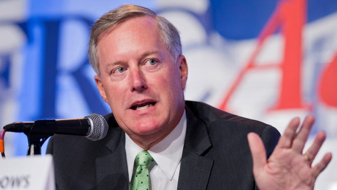Rep. Mark Meadows, a Republican from Jackson County, speaks in Washington in 2014. He has endorsed U.S. Sen. Ted Cruz for president.