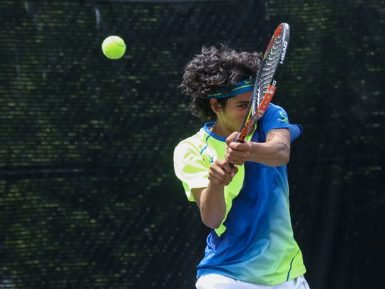 Rishi Gundarkaram is the first singles player for Caesar Rodney, which knocked off defending DIAA champion Tower Hill 4-1 last Friday to take over the No. 1 ranking in boys tennis.