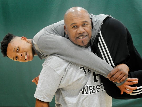 Pacifica High wrestling coach Willie Dillon Jr. has