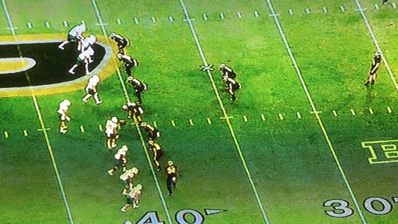 Purdue's punt formation vs. Ohio