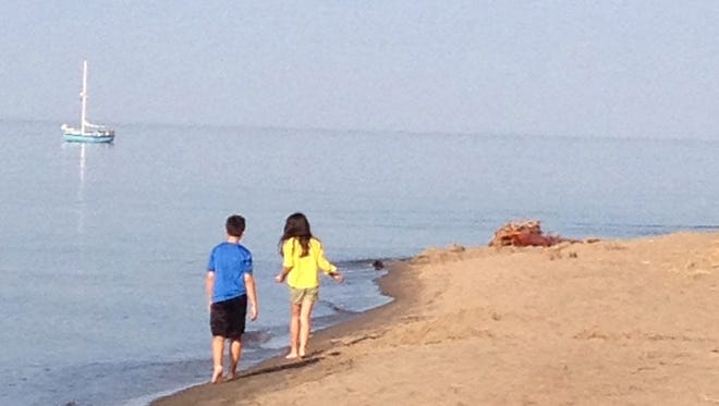 Brian Otten and his family visited Lake Superior in Ontonagon on September 27, 2014.