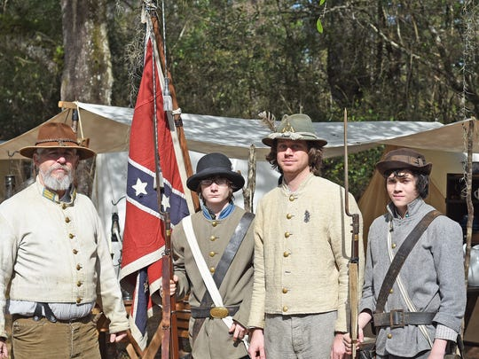 reenactors of the 4th GA from the right. Daniel Dawdy,