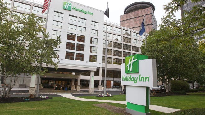 The former Plaza  Hotel on State Street downtown is now a Holiday Inn.