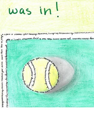 This was Mauricia Gallegos' winning entry in the USTA Texas National Junior Tennis and Learning program art contest.