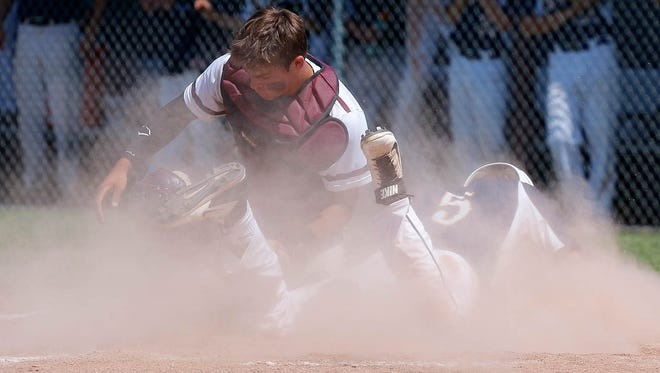 Catcher Blaine Milheim was one of three Eaton Rapids baseball players to earn all-state recognition from the Michigan High School Baseball Coaches Association.