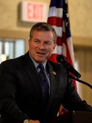 Congressmen Charlie Dent (pictured) and Ryan Costello spoke to Lebanon's civic organizations at the Lebanon Country Club on Wednesday, November 25, 2015.