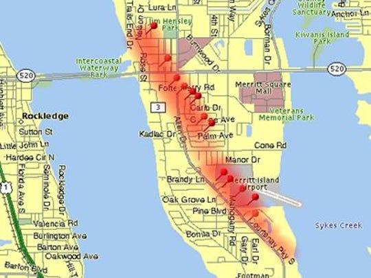 Path of Agnes tornado.