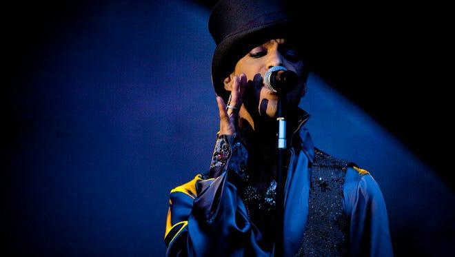 Prince performs in Copenhagen in August 2011.