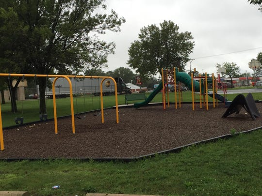 The view of the playground at Carlin Park in St. Cloud.