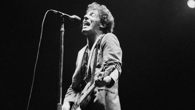 Bruce Springsteen is seen in concert in New York's Madison Square Garden, Aug. 21, 1978.