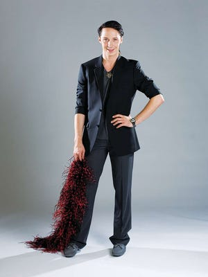 Johnny Weir posing for a (201) Magazine story about skating, living in Bergen and his up and coming fashion line.