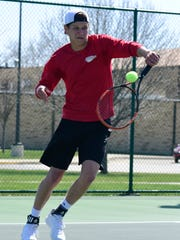 SJCC's Spencer Harrison competes Thursday at the SBC Bay Division tournament.