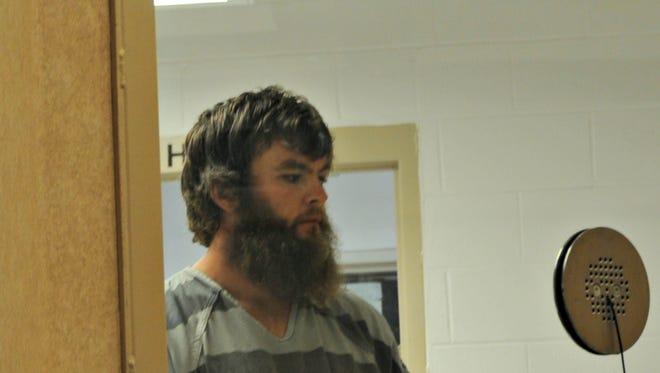 Christopher Gerberding, 32, of Salem, at his arraignment on Thursday, Sept. 8, 2016.