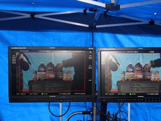 Ocean Spray films a commercial in Warrens.