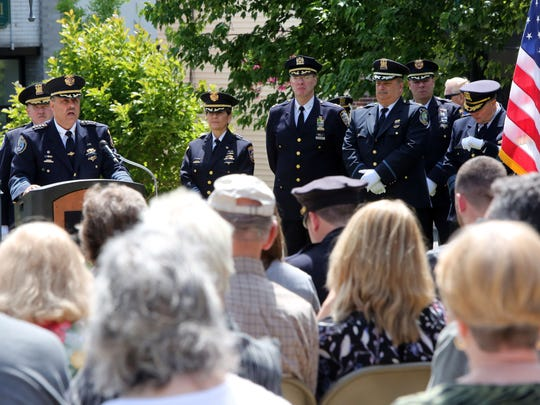 Rockland County Sheriff Louis Falco III speaks at the law enforcement memorial service honoring those that lost their lives in the line of duty May 21, 2017 at Rockland County Courthouse in New City.