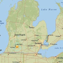 The United States Geological Survey reported a 4.0 earthquake south of Galesburg (marked by red dot) around 12:25 p.m. today.