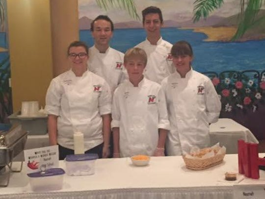 Neenah High School's culinary club placed second among