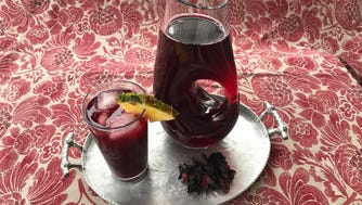 Irie Zulu's Summertime Drink combines hibiscus with fresh ginger, pineapple juice and sugar.