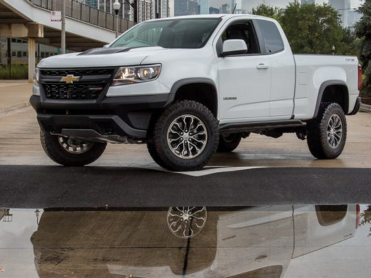 2017 Chevrolet Colorado has a high ground clearance