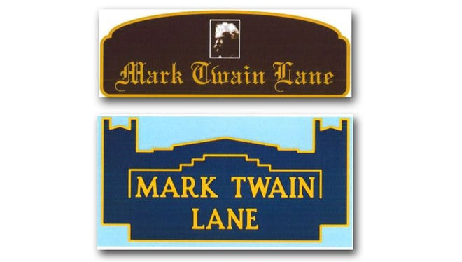 Specially designed signs will be hung along West 27th Street to commemorate the recently closed and demolished  Mark Twain Elementary.
