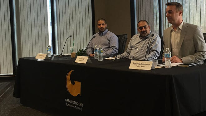 Panelists from three companies expanding to Phoenix spoke about what attracted their businesses to the area at an event held by the Great Phoenix Economic Council on Thursday.