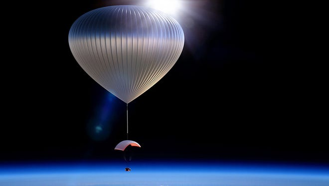 World View plans to start taking passengers to the outermost edge of earth's atmosphere in high-altitude balloons by 2018.