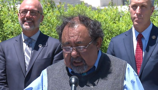 Rep. Raul Grijalva, D-Tucson, at a Capitol event in support of his bill to make federal agencies let people add their sexual orientation and gender identity to federal forms.