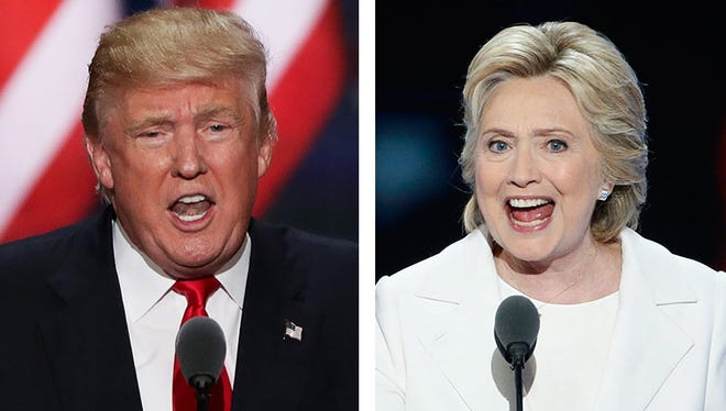 Donald Trump, left, and Hillary Clinton