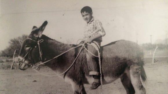Jose Jimenez as a boy in Mexico