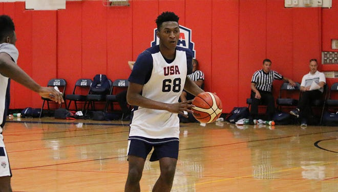 High school senior guard Immanuel Quickley at Team USA training camp.
