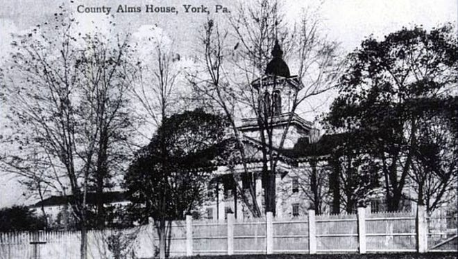 The York County Almshouse when it was located near the site of the present day Alexander D. Goode School.