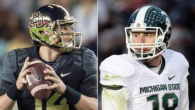 Baylor quarterback Bryce Petty and MSU quarterback Connor Cook.