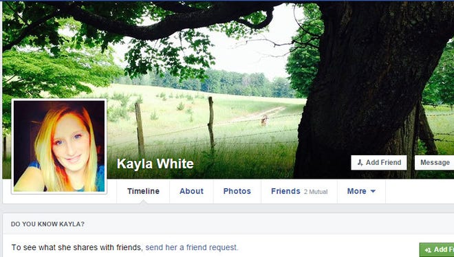 Kayla White's Facebook profile