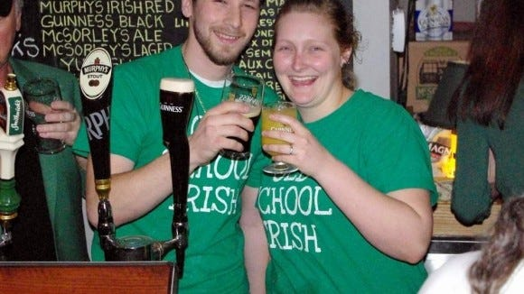 Danny and Jessica Barry at the first Great Guinness Toast in 2012. (Photo: M. Rosenberry)
