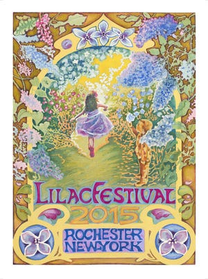 The 2015 Lilac Festival poster was created by Rochester artist Diane Elmslie. The p rint will be available at the festival next month.