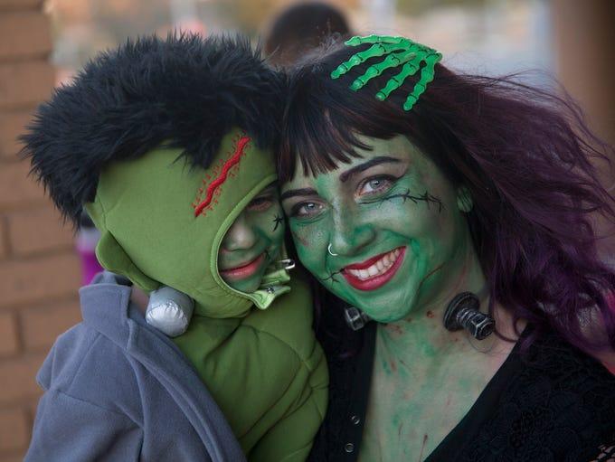 Rebecca Licata of Brick with her baby Frankenstein,
