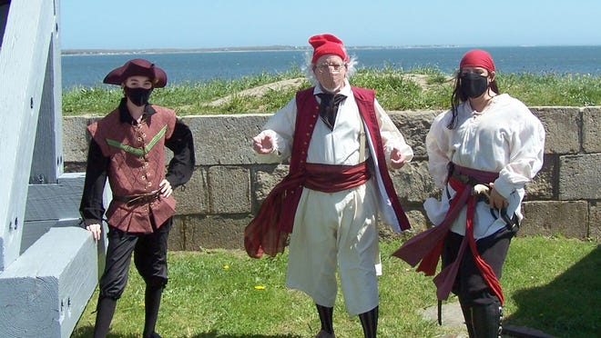 "Hear tales of pirates, Revolutionary War era privateers, and historical Fort Phoenix during the ""Pirates & Privateers"" presentations at Fort Phoenix."