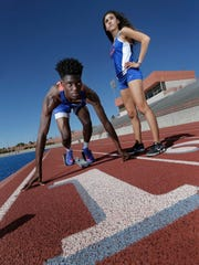 Canutillo runners Khori Roberts and Anisa Burciaga will compete in the state track meet: Roberts in the 400 meter dash and Burciaga in the mile.
