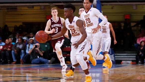 Demetre Roberts (22) and Jason Douglas-Stanley (20) both shined in Mount Vernon's win at the Marsha Marsh Roundball Classic in Erie, Pa. last weekend.