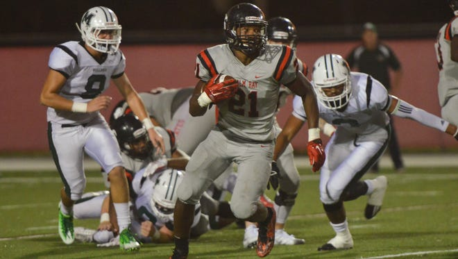 Friday night's Melbourne High School vs. Palm Bay High School football game. (Photo by Amanda Stratford, for FLORIDA TODAY)