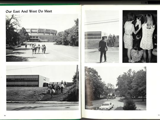 Jackson Central-Merry High School's first 'Central Crossroads' yearbook shows scenes of student life.
