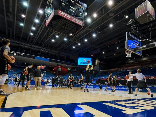 NCAA Basketball: NCAA Tournament-Dayton Practice Day