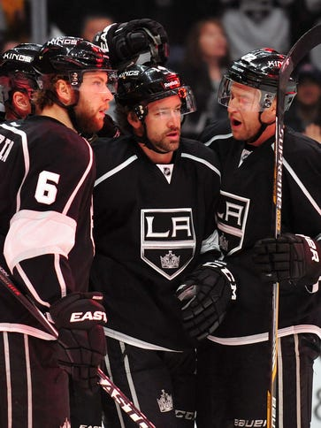 Los Angeles Kings defenseman Jake Muzzin and center