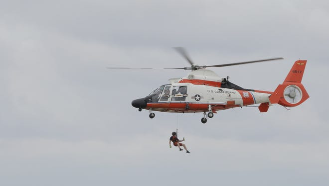 The United States Coast Guard celebrated their centennial with an airshow demonstration at the Experimental Aircraft Association's AirVenture in Oshkosh on Thursday.
