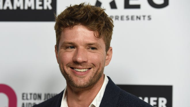 Ryan Phillippe arrives at Elton John's 70th birthday party March 25 in Los Angeles.