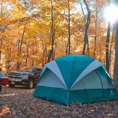 Fall is a great time for camping in Wisconsin.