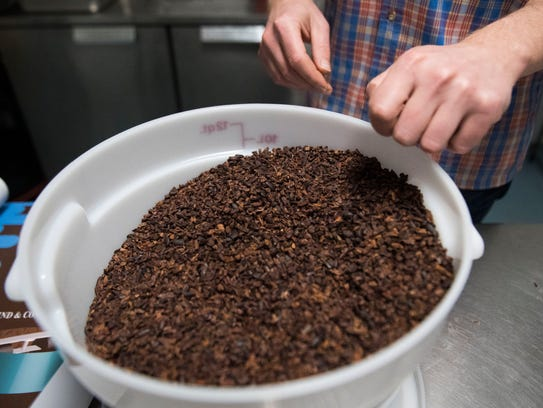 Nathan Hilbert, owner and operator of Unrefined Chocolate,