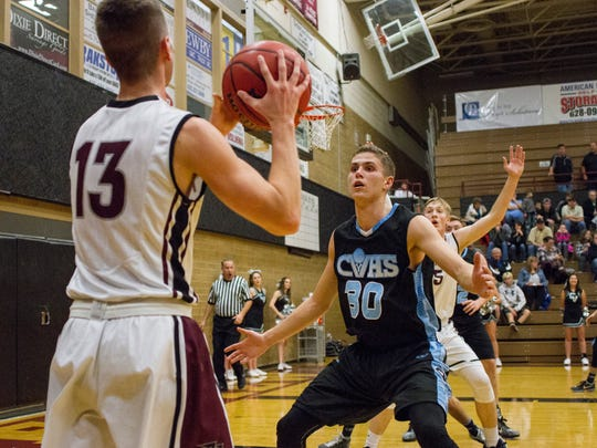 Trey Farrer scored a game-high 26 points and also pulled down a game-high 14 rebounds to lead Pine View to a 55-37 victory over Canyon View Tuesday night.