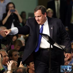 Chris Christie speaks to supporters at a presidential campaign launch event, June 30, 2015, in Livingston, N.J.