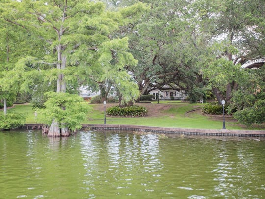 The 2.9 acre property is located on 300 feet of picturesque lakefront